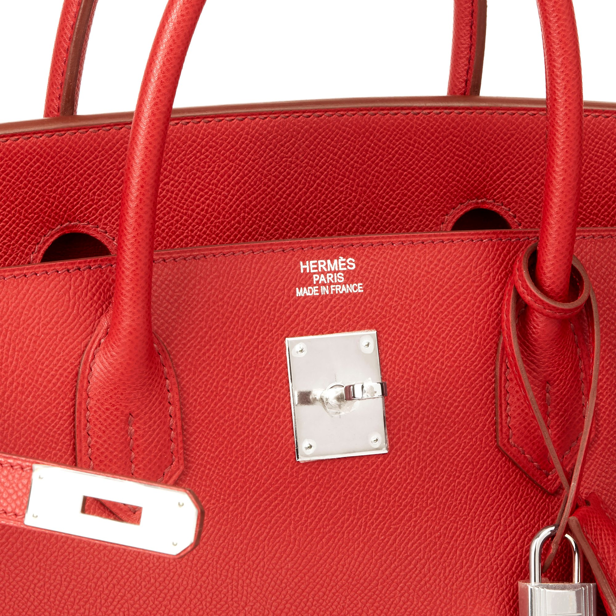 Hermès Rouge Garance Epsom Leather Birkin 40cm