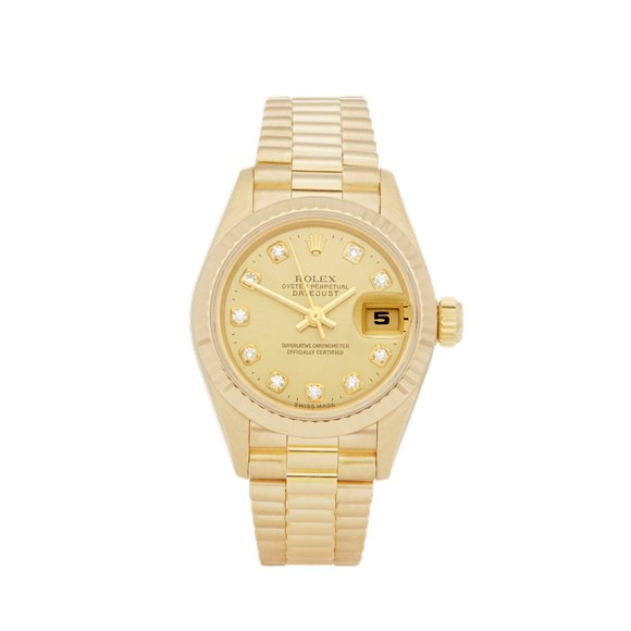 Rolex DateJust 26 Diamond 18k Yellow Gold - 69178