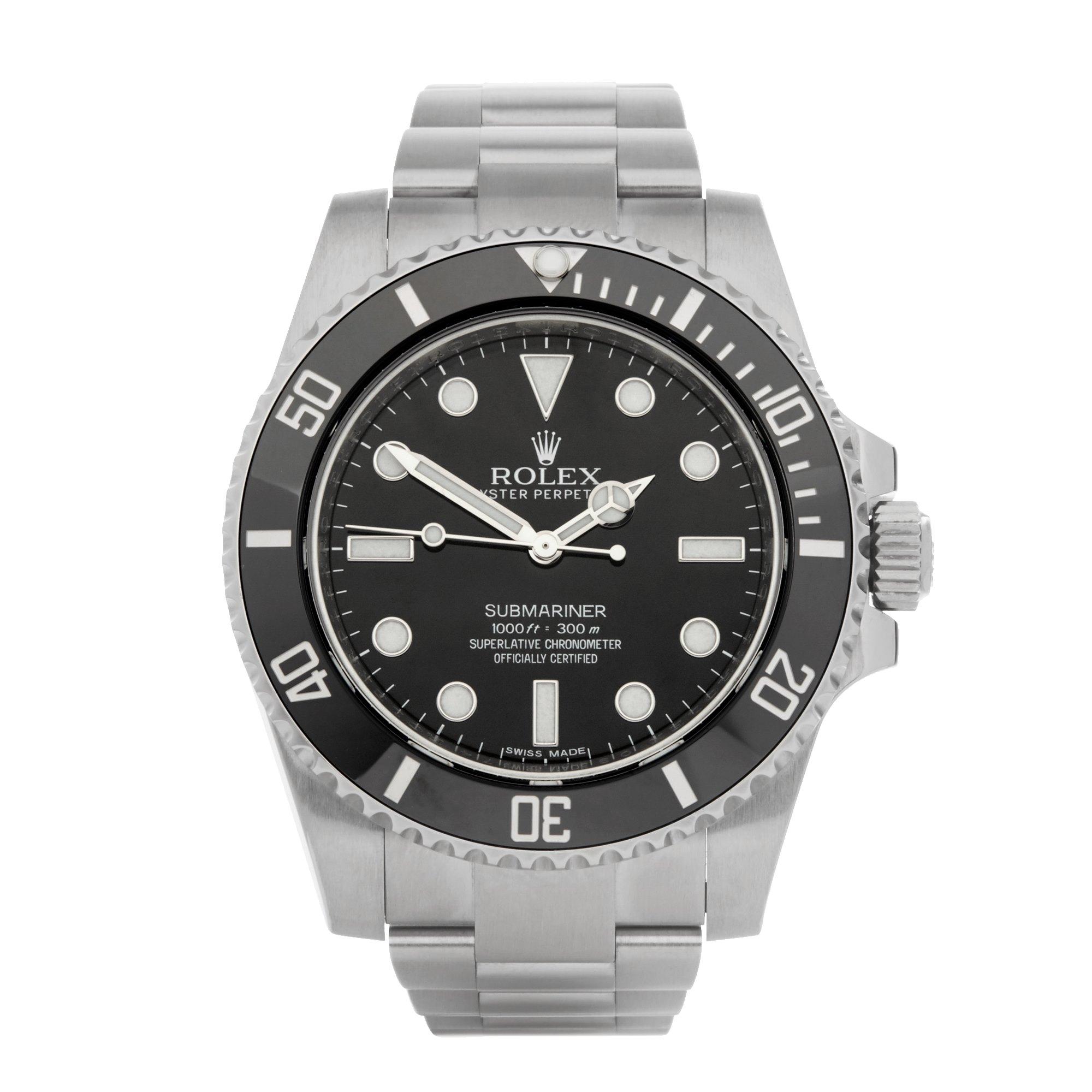 Rolex Submariner Non Date Stainless Steel 114060