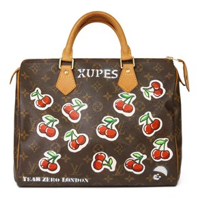 Louis Vuitton X Year Zero London Hand-painted 'Cherries' Brown Monogram Coated Canvas Speedy 30