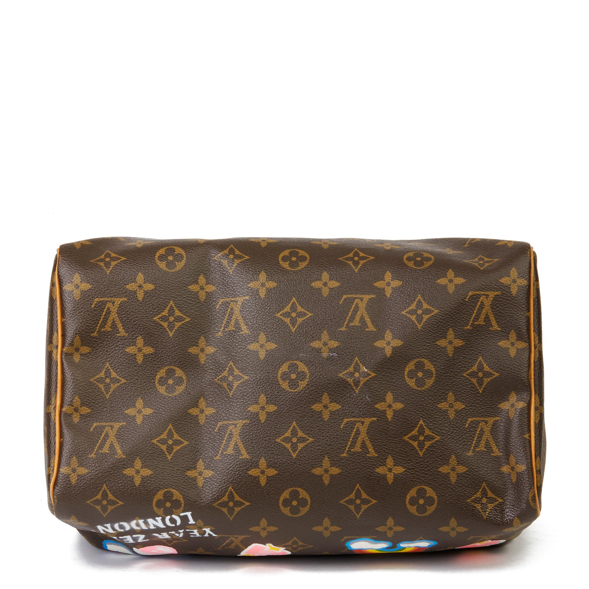Louis Vuitton X Year Zero London Hand-painted 'Love is Love' Brown Monogram Coated Canvas Speedy 30