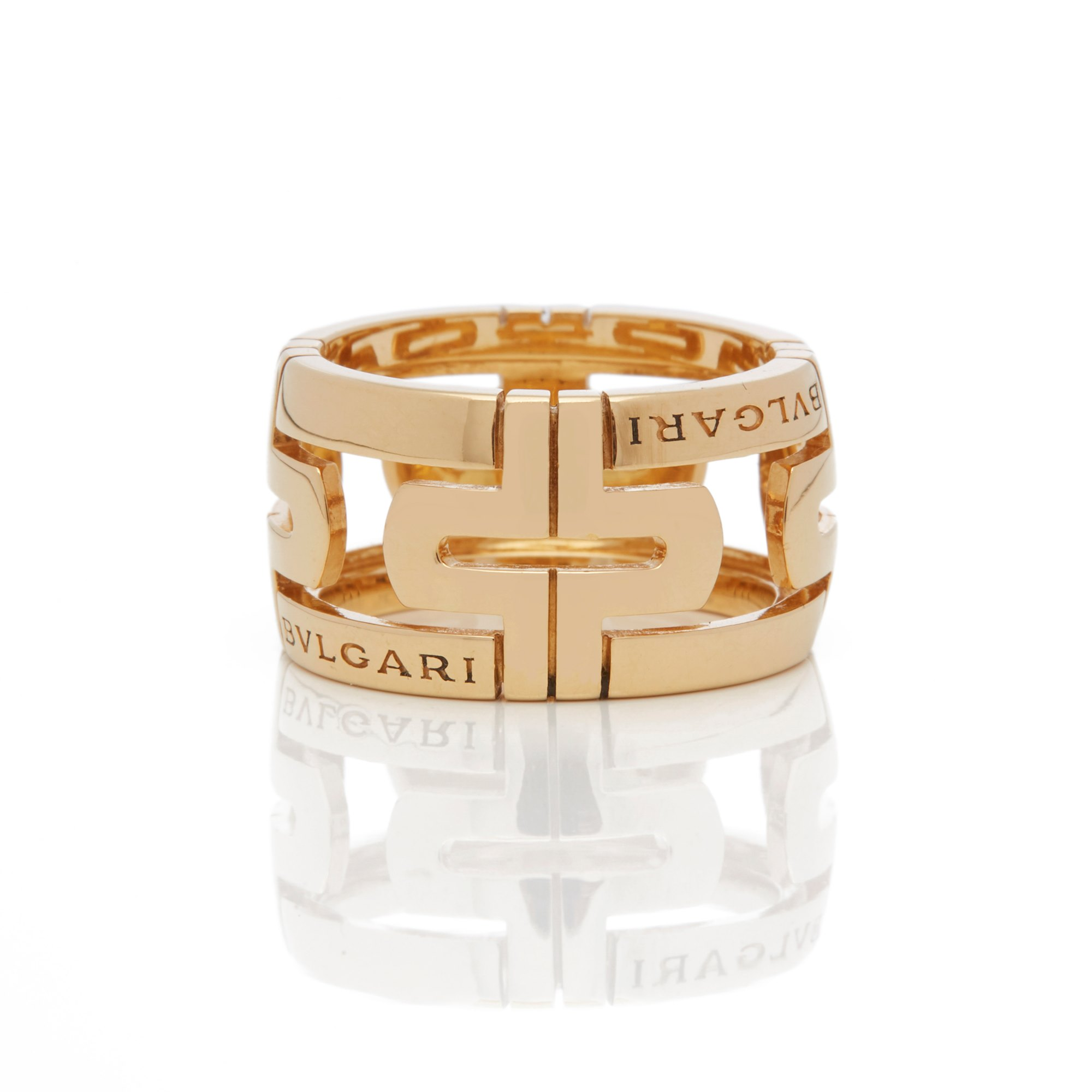 Bulgari 18k Yellow Gold Parentesi Ring