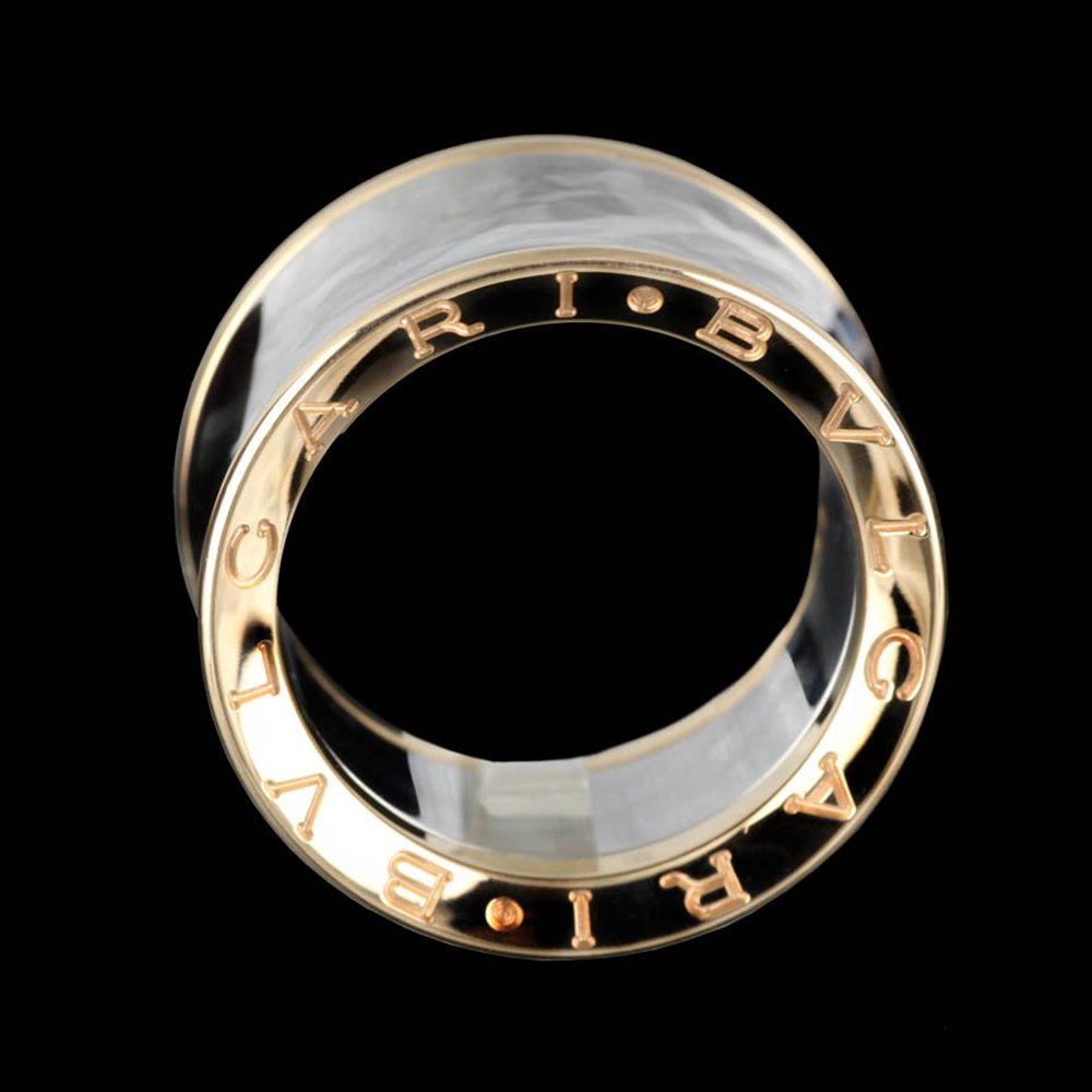 Bvlgari (or Bulgari)B Zero 1 Anish Kapoor 18k Rose Gold & Steel Ring Size 54