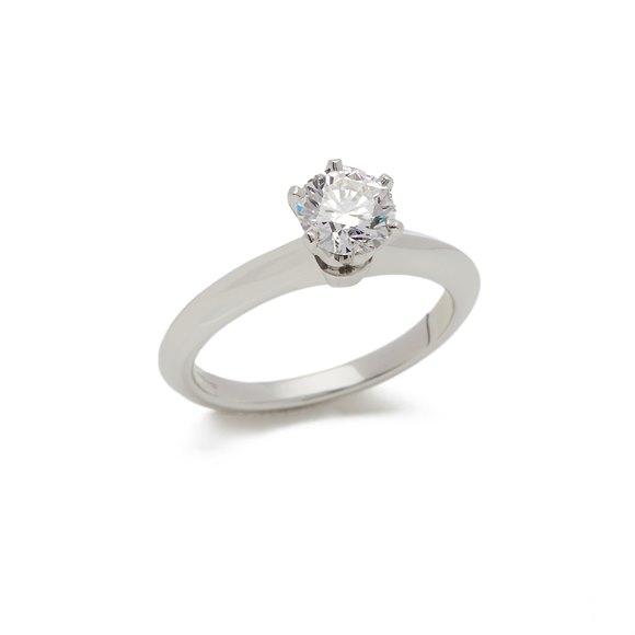 Tiffany & Co. Platinum 0.81ct Diamond Solitaire Engagement Ring