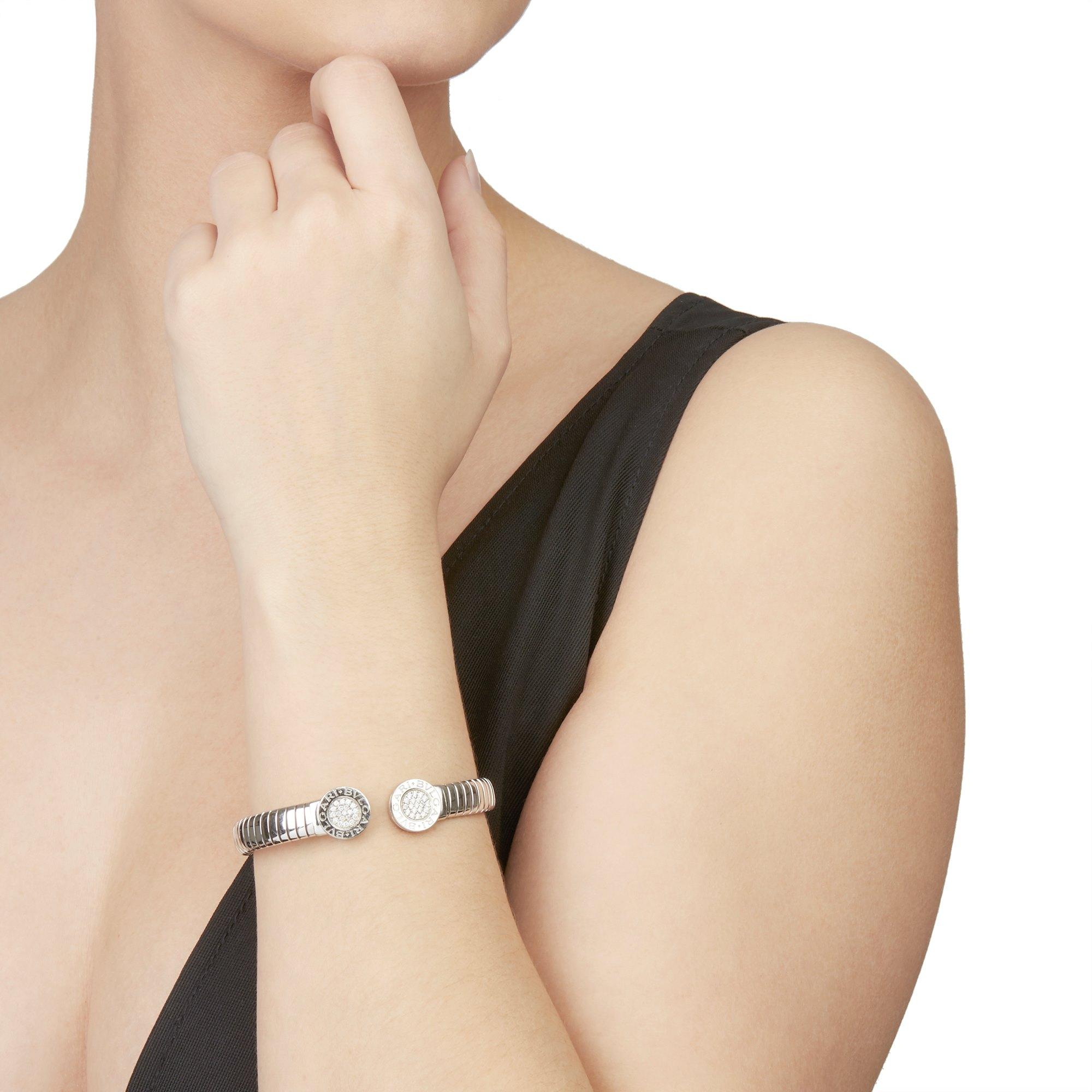 Bulgari Stainless Steel Diamond Tubogas Bracelet