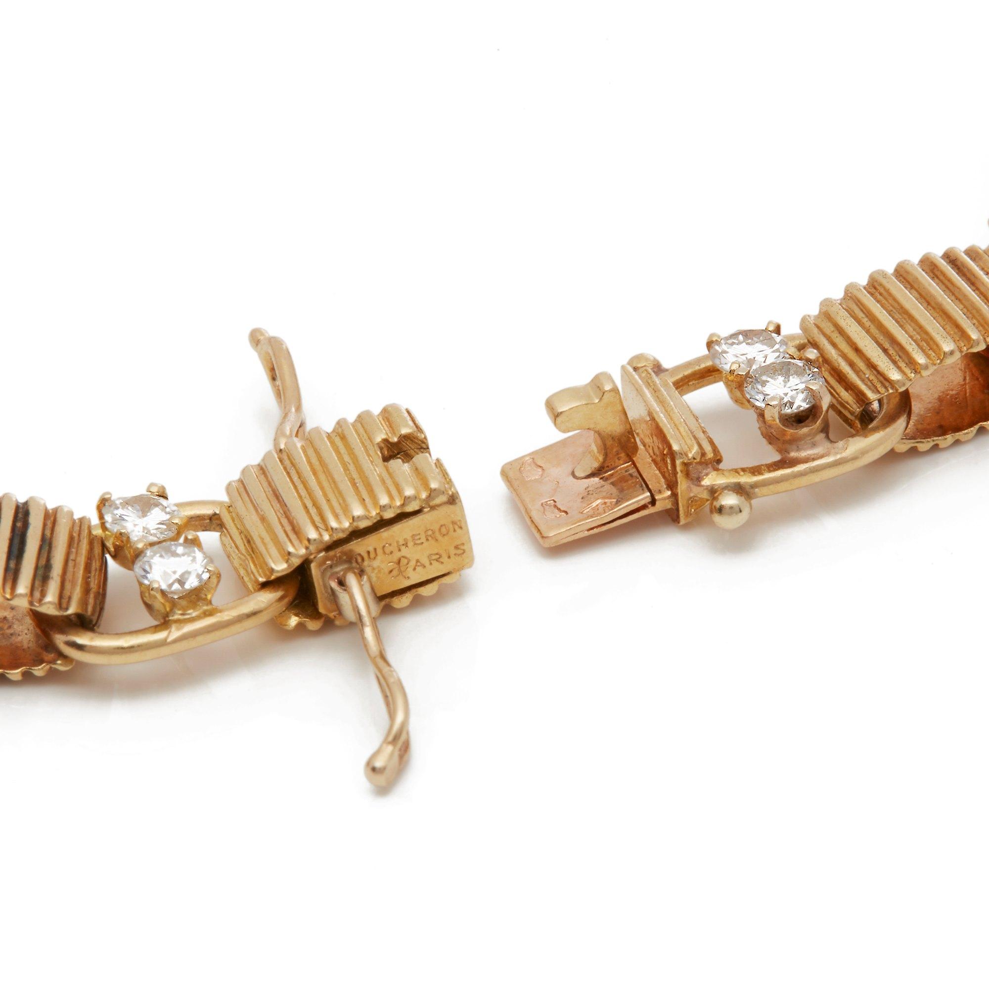 Boucheron 18k Yellow Gold Diamond, Sapphire & Ruby Bracelet