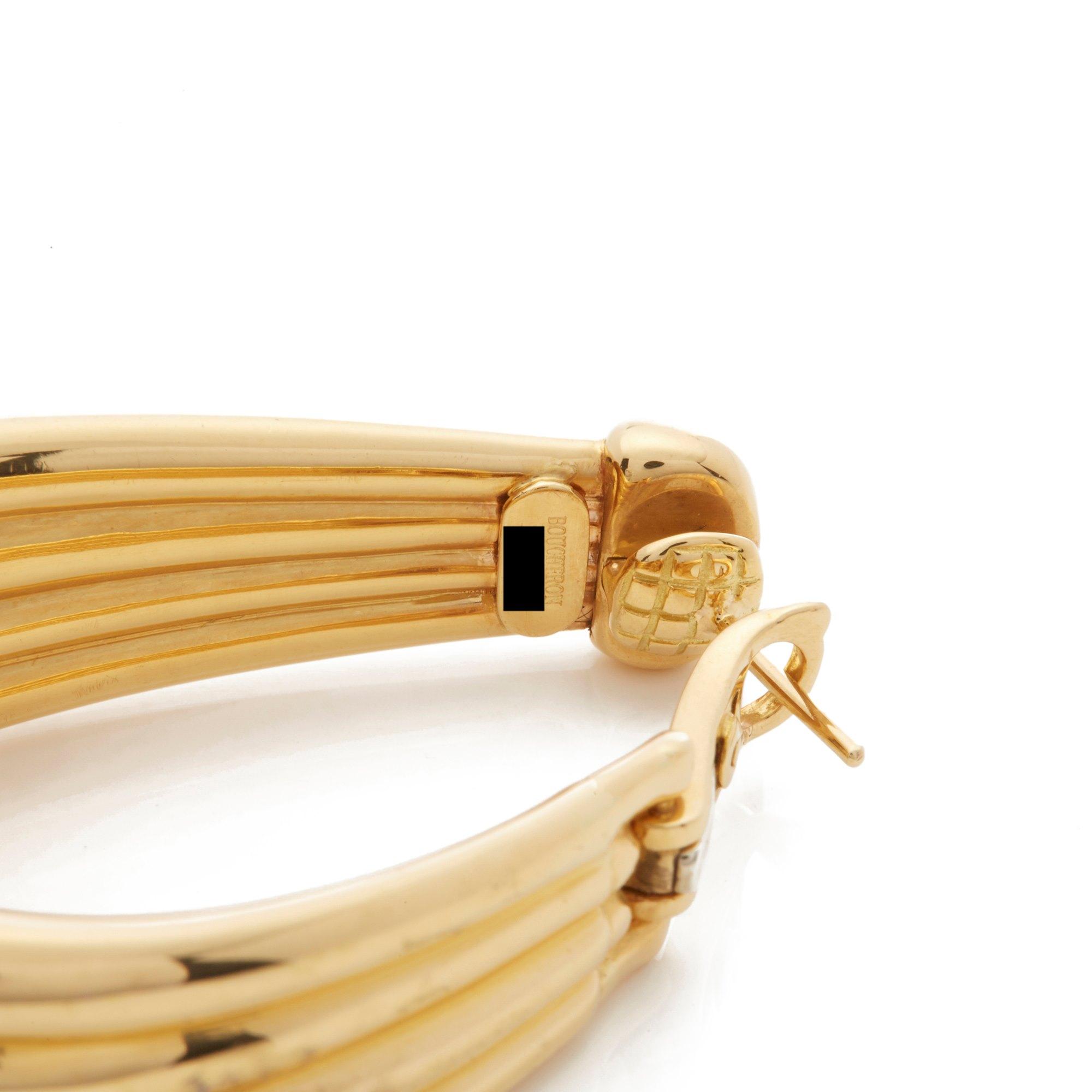 Boucheron 18k Yellow Gold Large Hoop Earrings