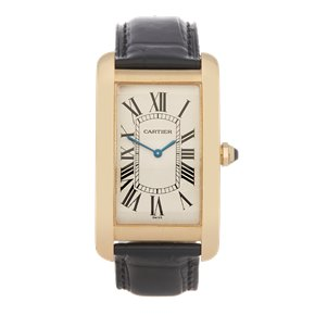 Cartier Tank Americaine Mecanique 18K Yellow Gold - 1735-1