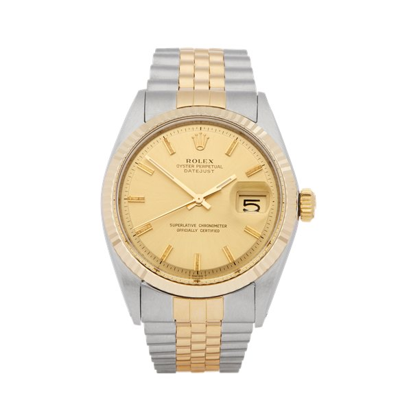 Rolex DateJust 36 Stainless Steel & Yellow Gold - 1601