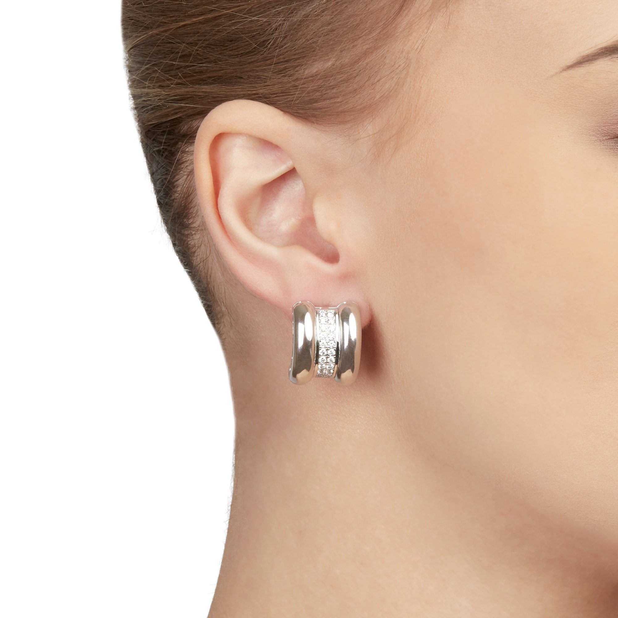 Chopard 18k White Gold Diamond La Strada Earrings
