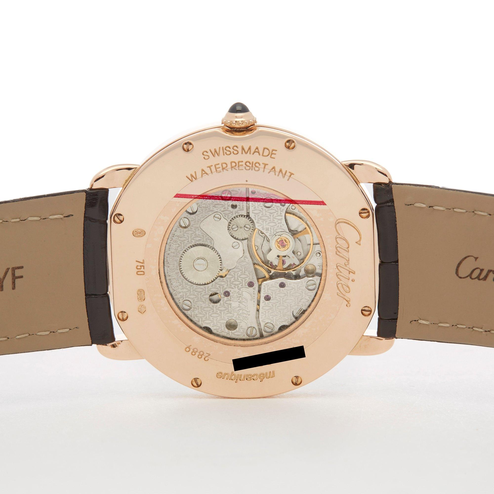 Cartier Ronde 18K Rose Gold 2889