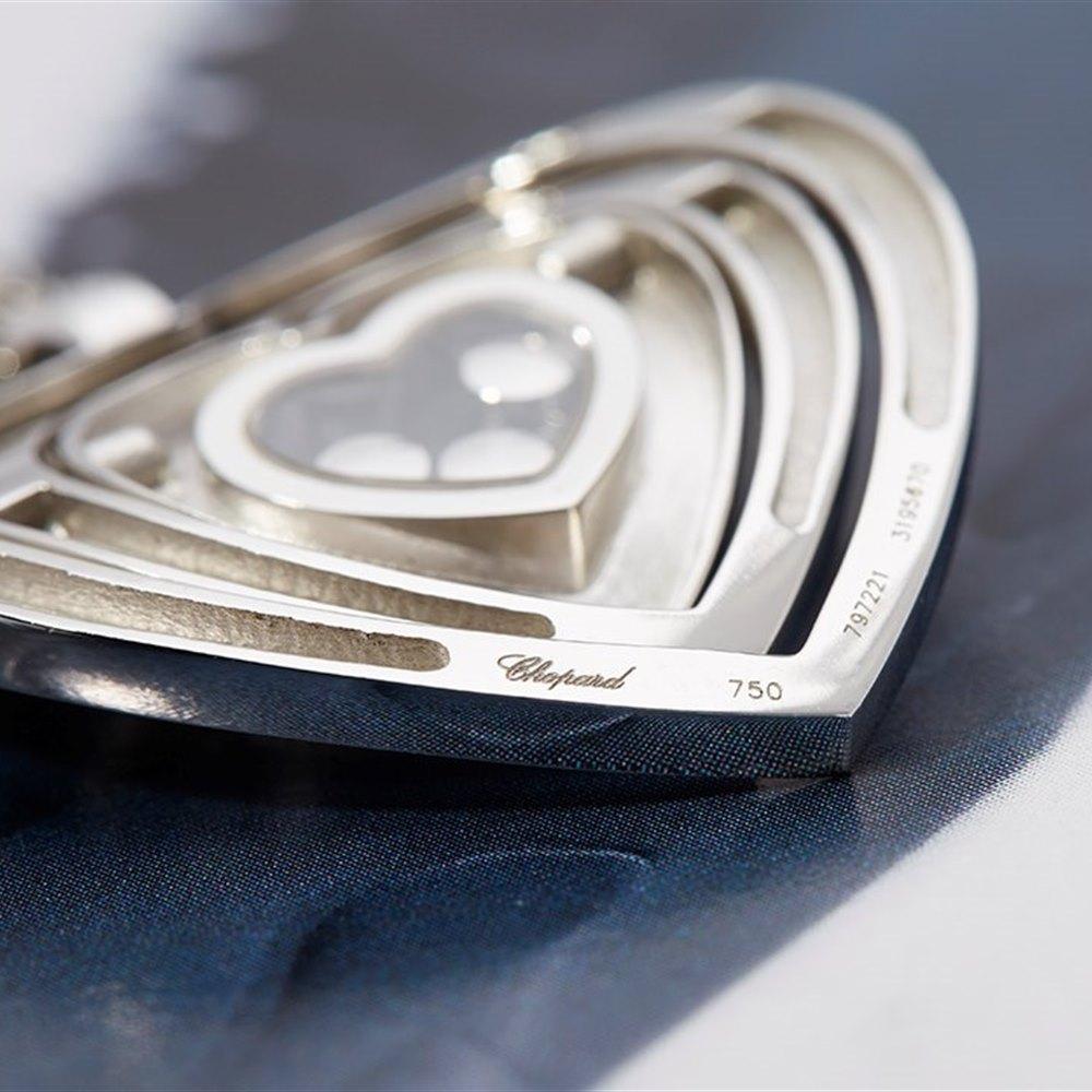 Chopard Happy Diamonds 18K White Gold Medium Heart Pendant Necklace