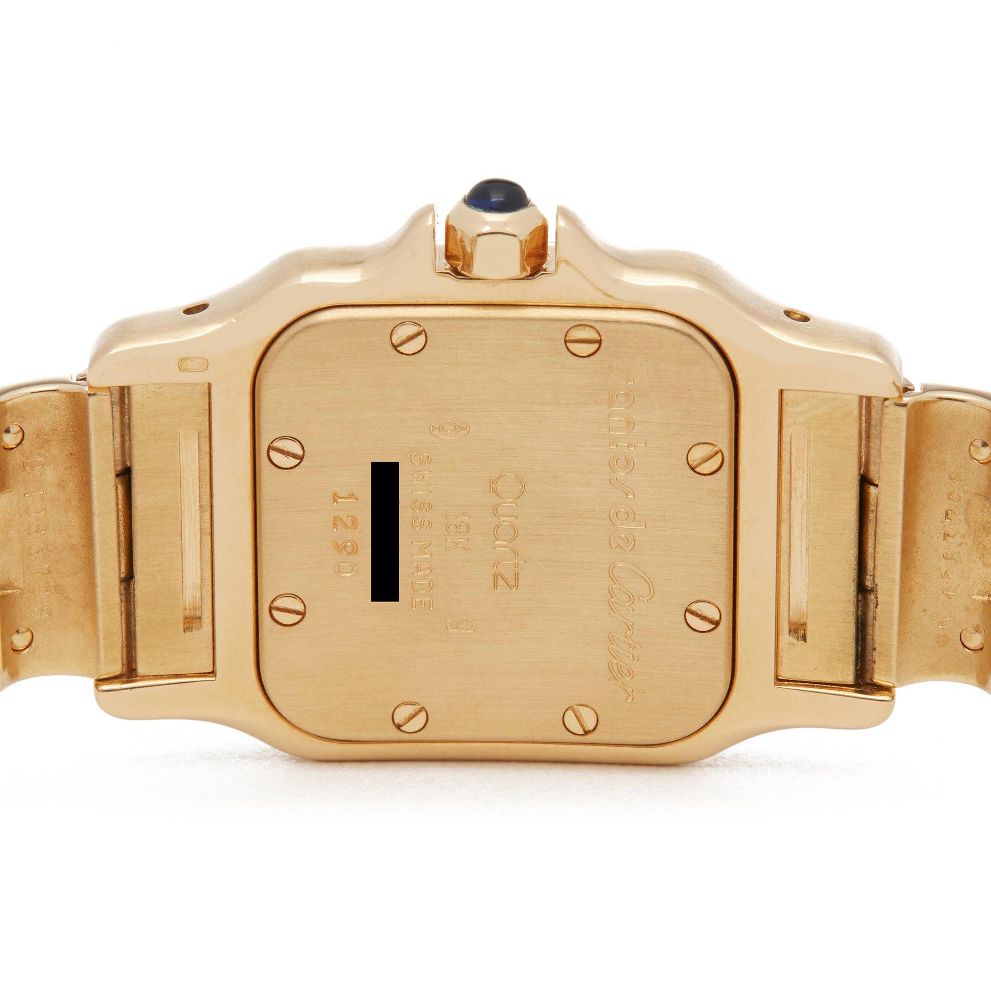 Cartier Santos Galbee Yellow Gold 1290