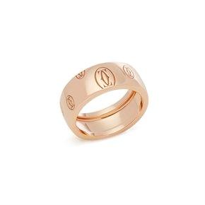 Cartier 18k Rose Gold Happy Birthday Ring