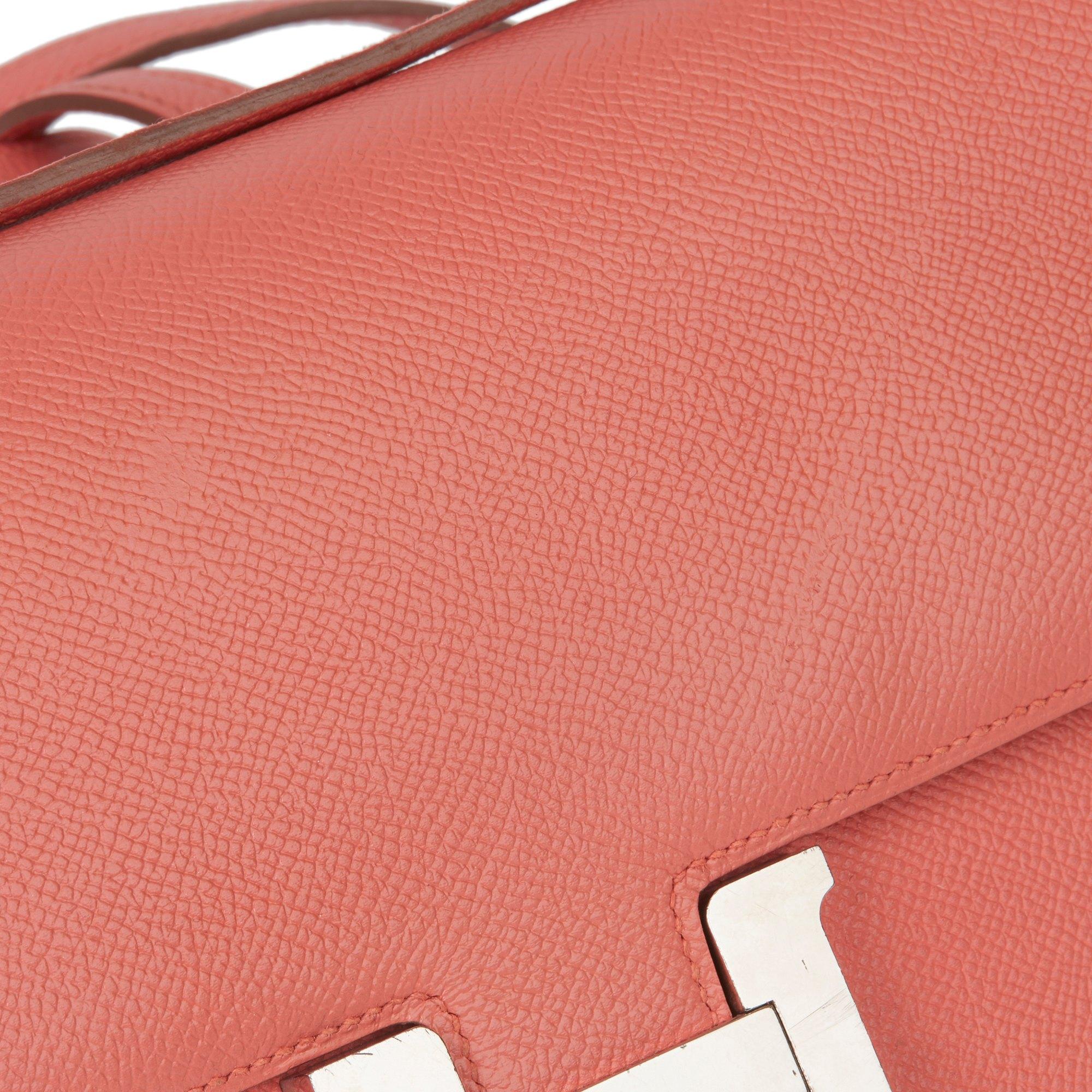Hermès Flamingo Epsom Leather Constance Elan
