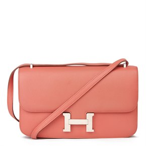 Hermès Flamingo Epsom Leather Constance Elan
