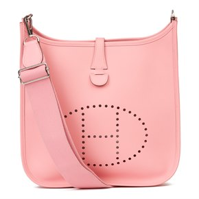 Hermès Rose Confetti Epsom Leather Evelyne III 33