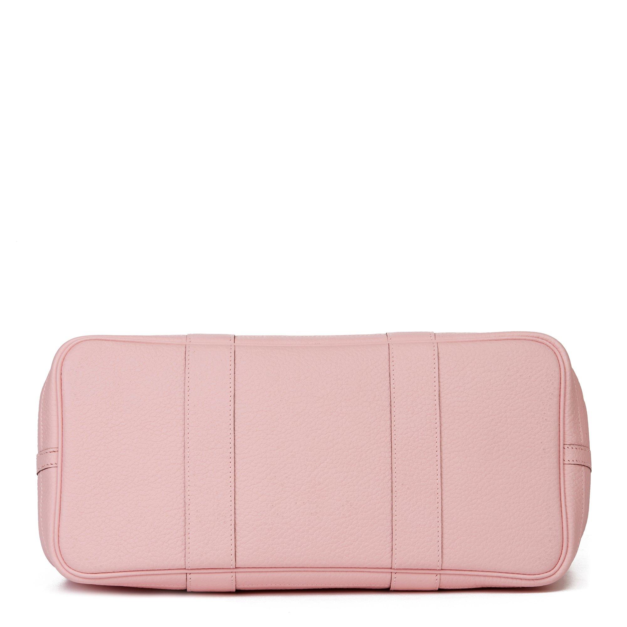 Hermès Rose Sakura Vache Country Leather Garden Party 36cm