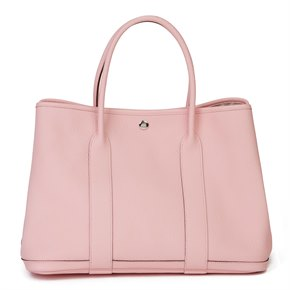 Hermès Rose Sakura Vache Country Leather Garden Party 36cm