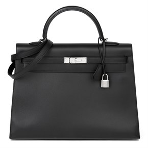 Hermès Black Epsom Leather Kelly 35cm Sellier