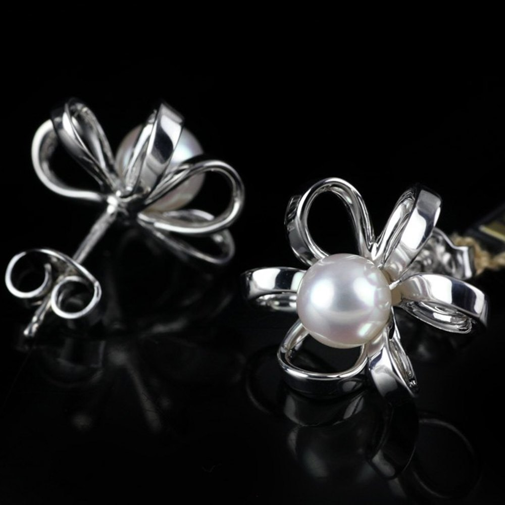 Mikimoto Blossom 18k White Gold Akoya Pearl Earrings
