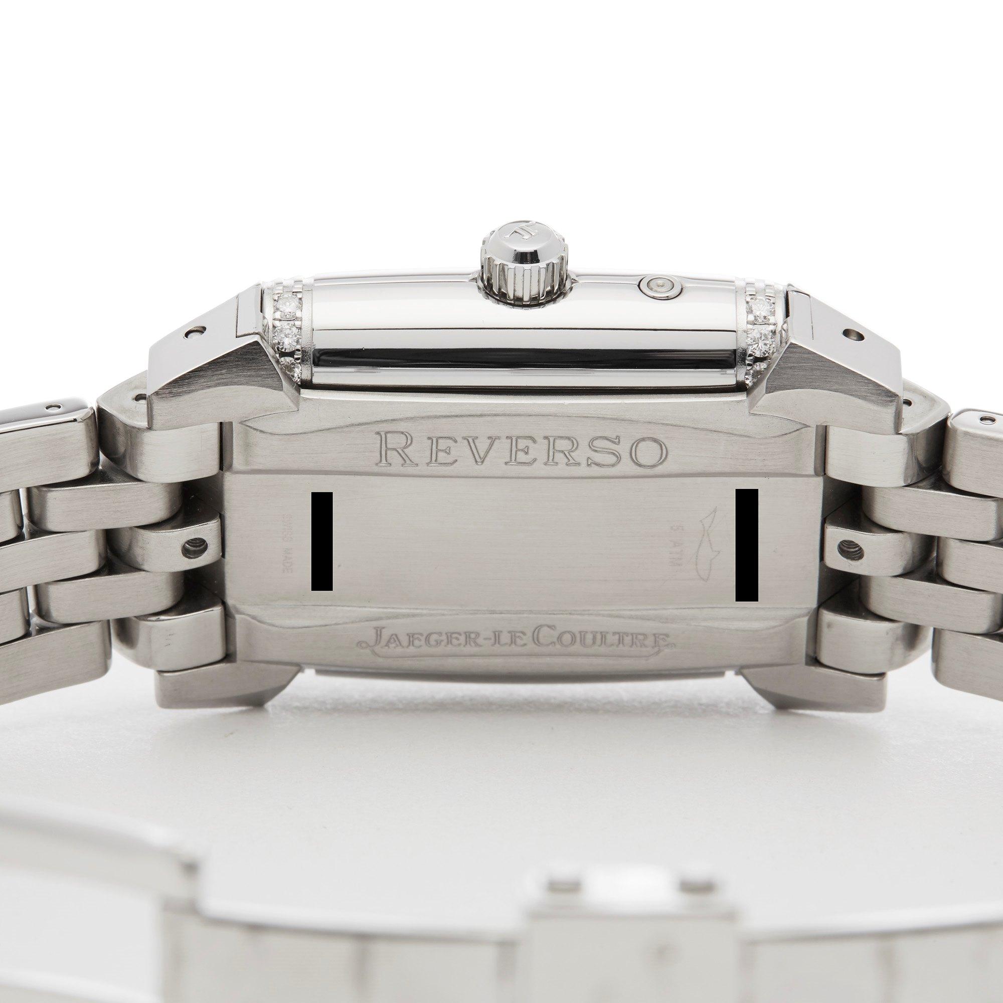 Jaeger-LeCoultre Reverso Diamond Stainless Steel 296.8.74