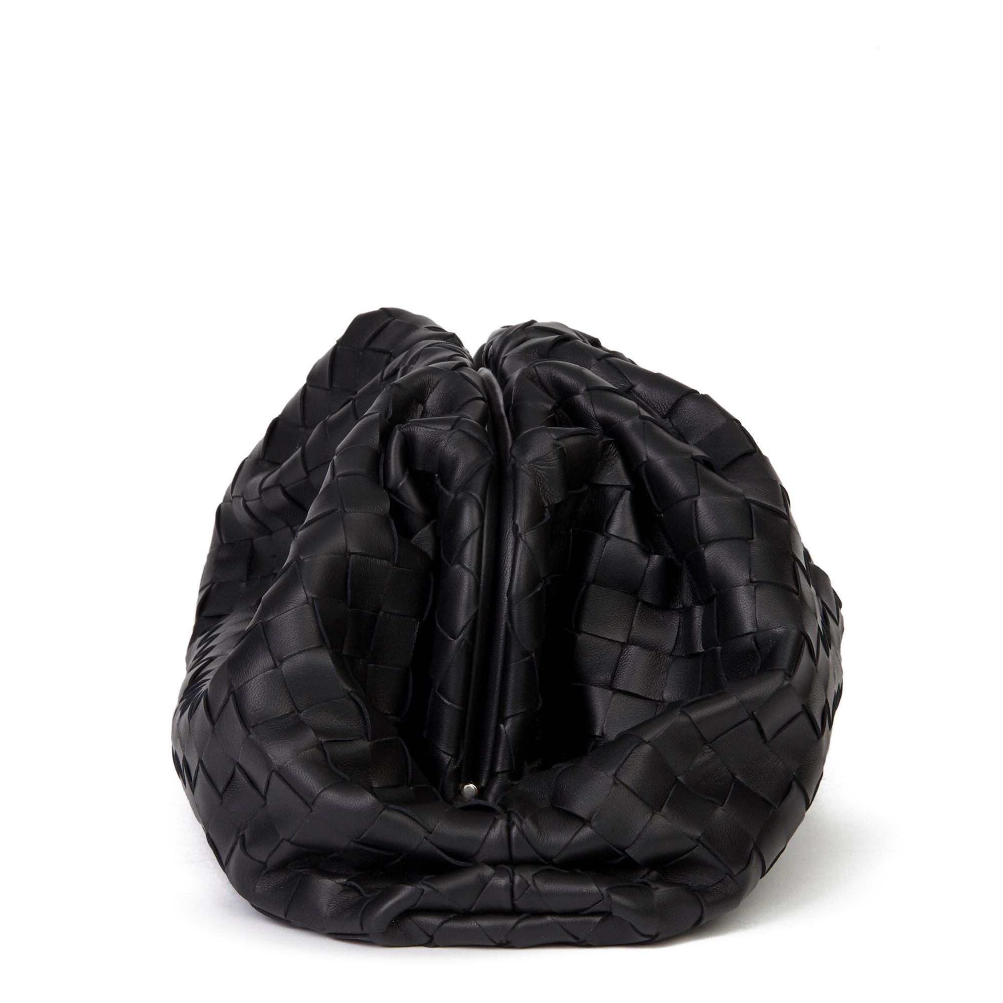 Bottega Veneta Black Woven Lambskin The Pouch
