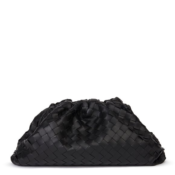 Bottega Veneta Black Woven Lambskin The Pouch