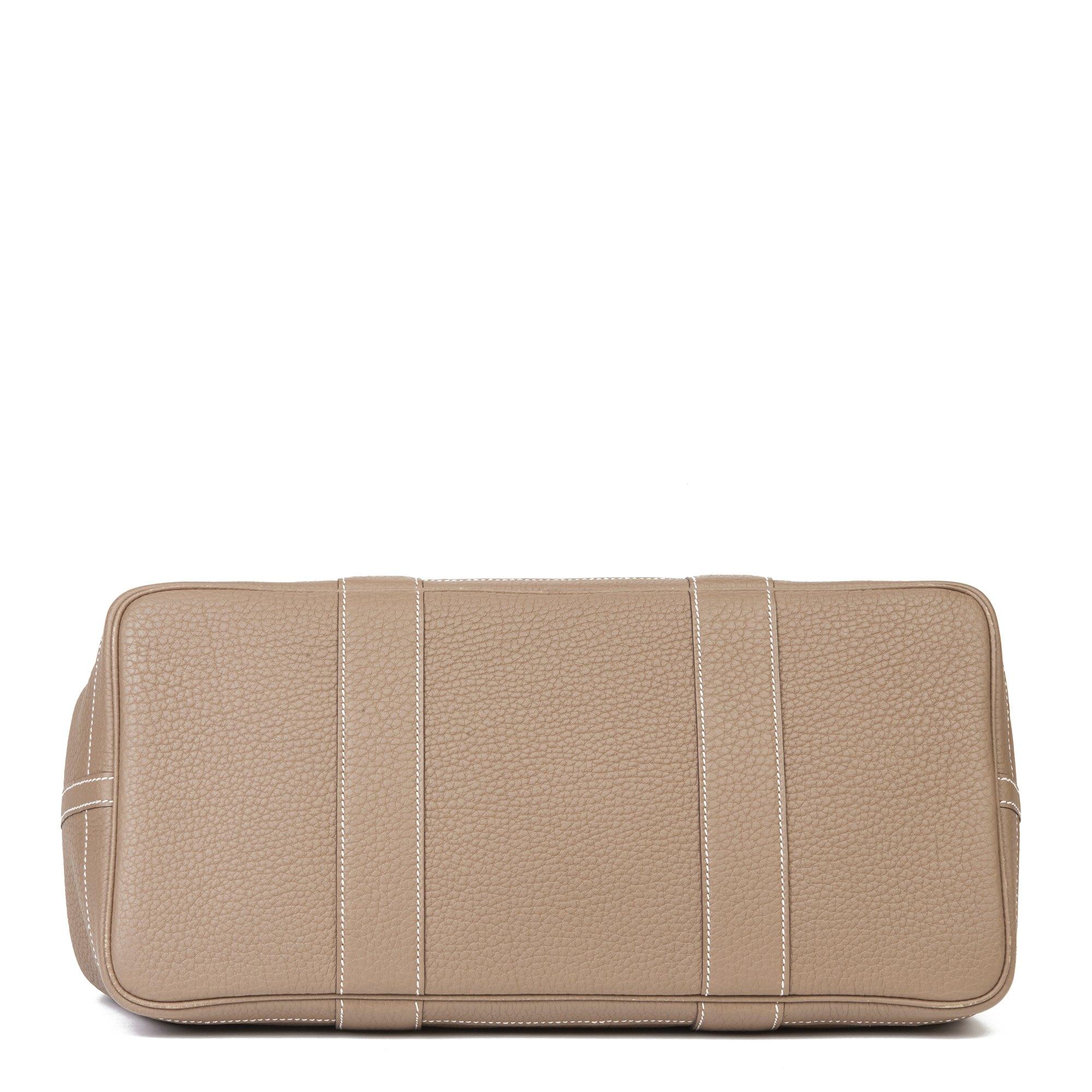 Hermès Etoupe Negonda Leather Garden Party 36cm