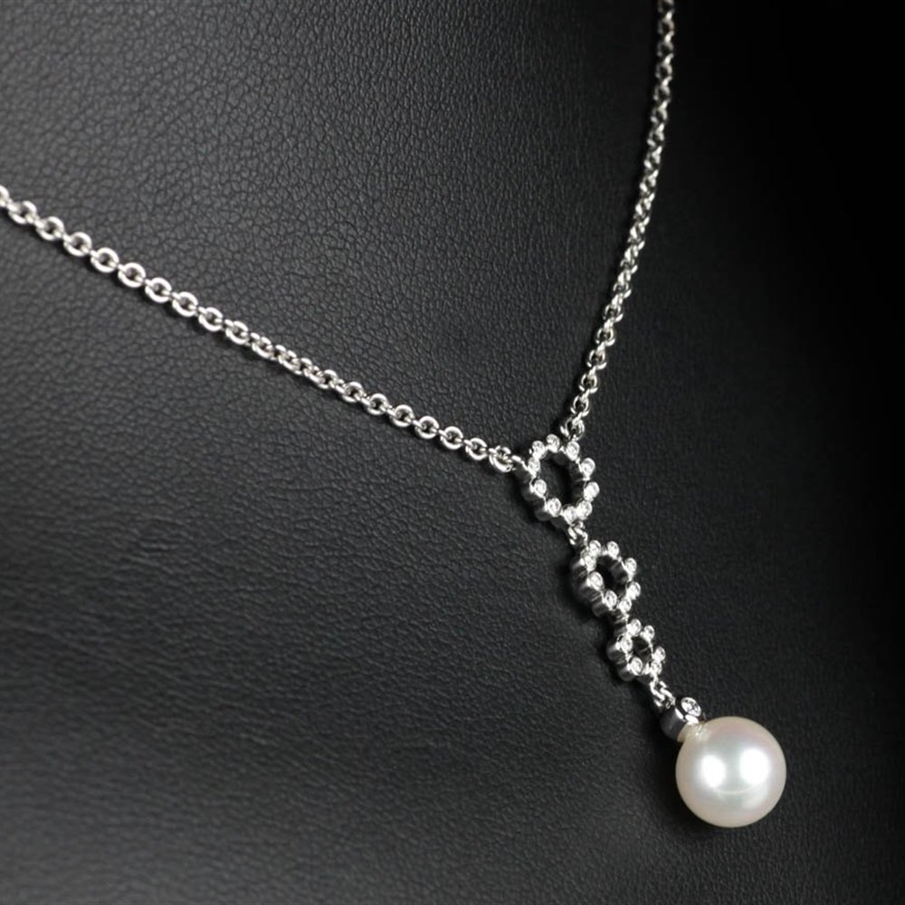pearl in diamond winterson grey pendant gold and with tahitian chain white