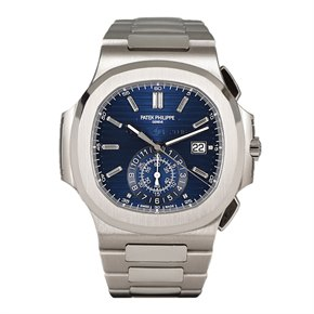 Patek Philippe Nautilus 40th Anniversary Chronograph Diamond 18K White Gold - 5976/1G-001