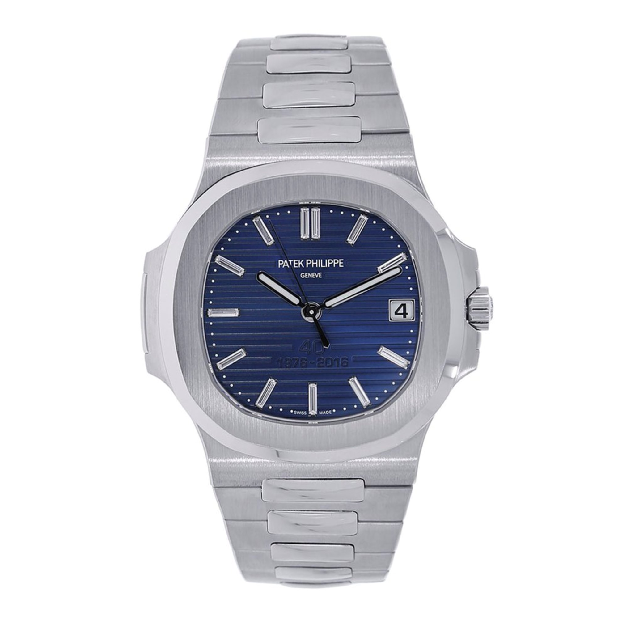 Patek Philippe Nautilus Singled Sealed 40th Anniversary Diamond Platinum 5711/1P-001