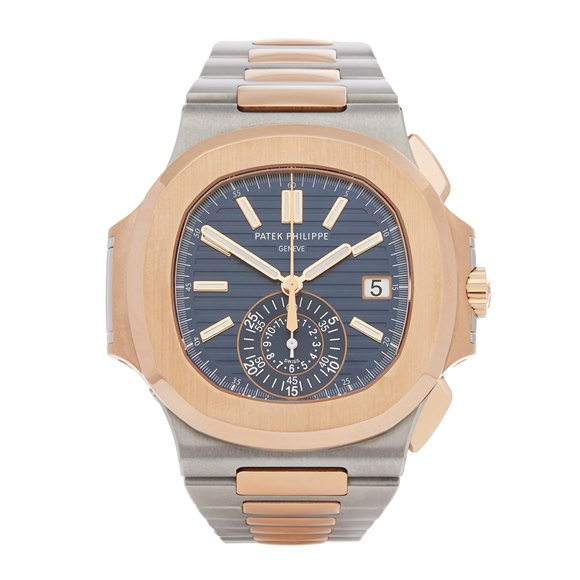 Patek Philippe Nautilus Chronograph Stainless Steel & Rose Gold - 5980/1AR-001