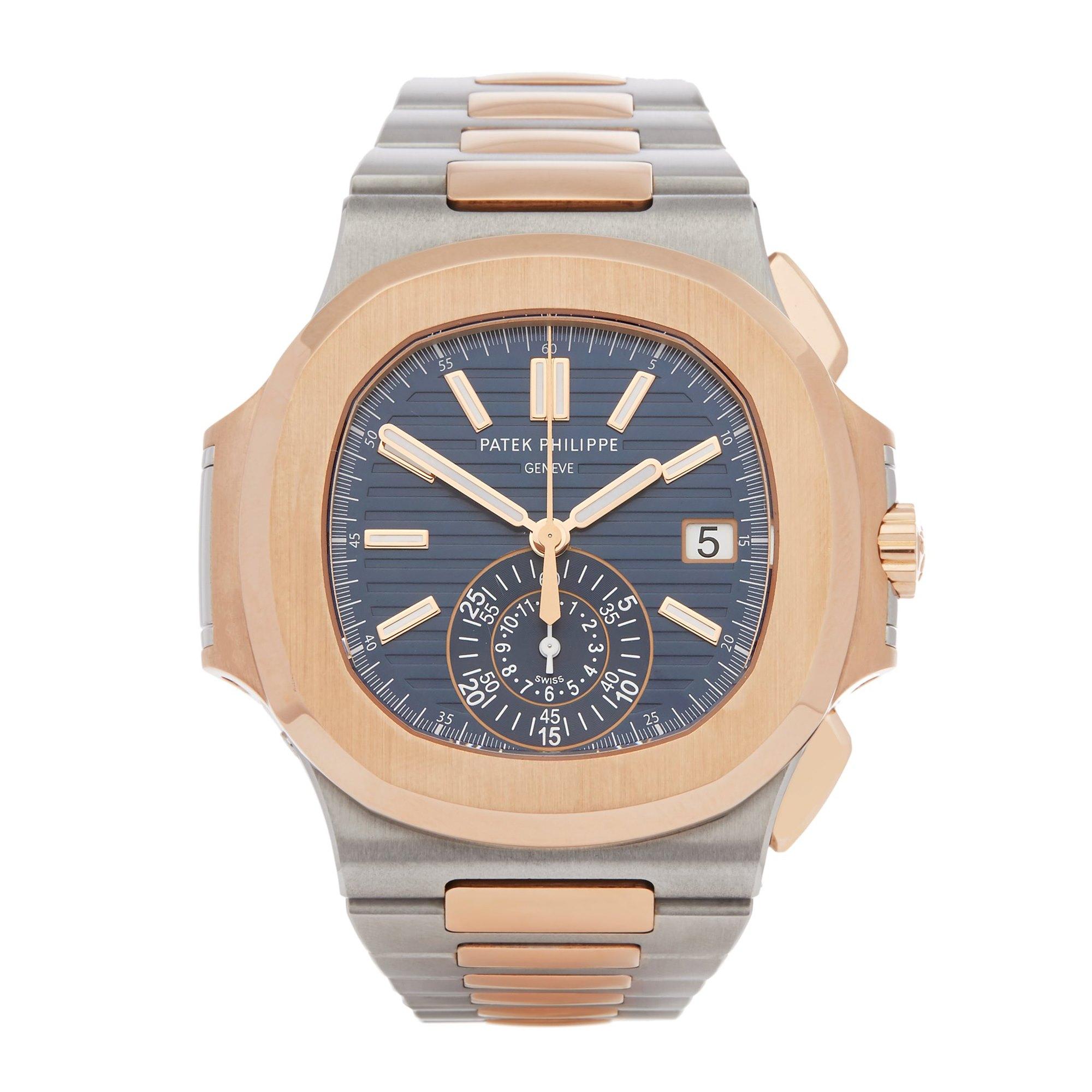 Patek Philippe Nautilus Chronograph Stainless Steel & Rose Gold 5980/1AR-001