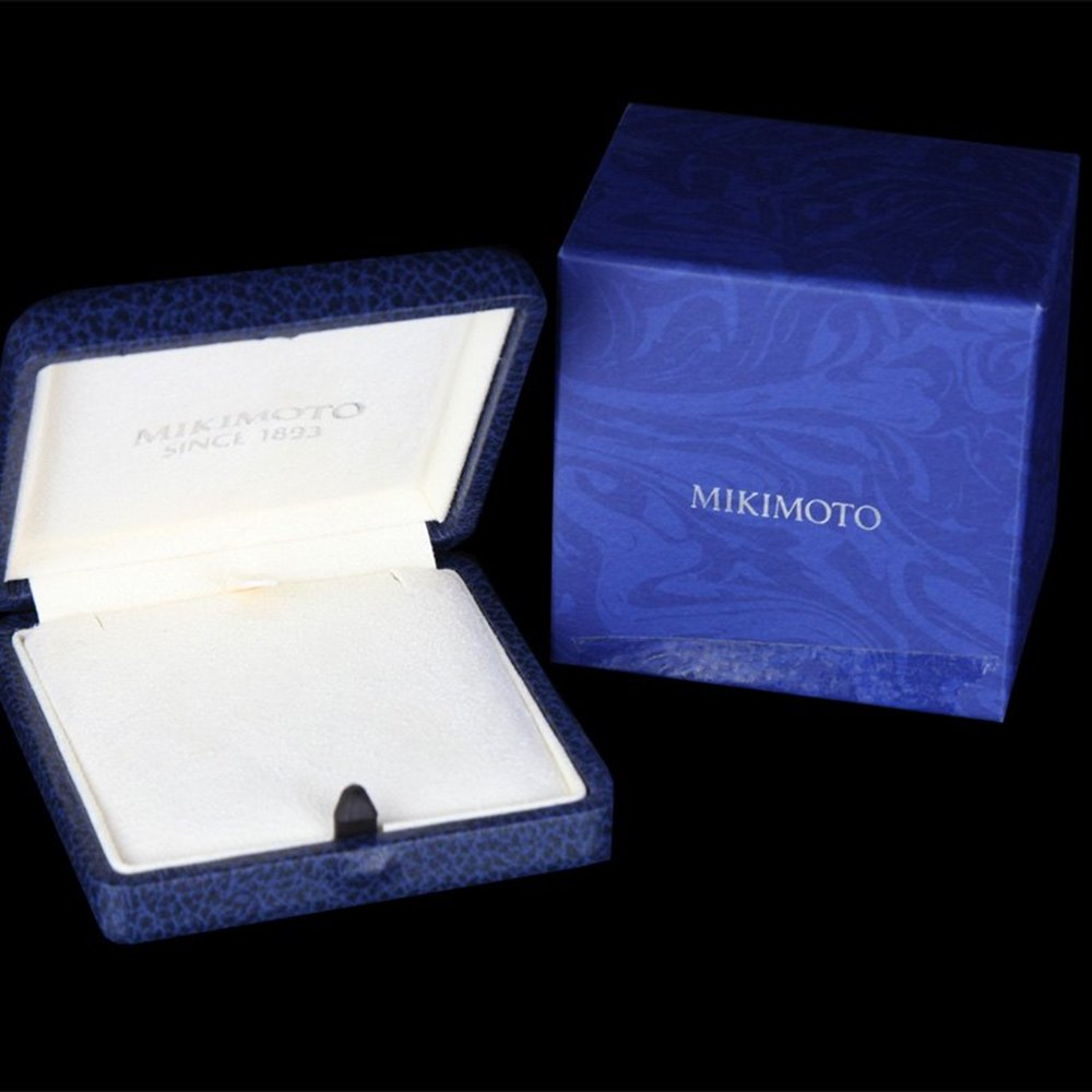 Mikimoto Bow 18k Yellow Gold Akoya Pearl & Diamond Pendant Necklace