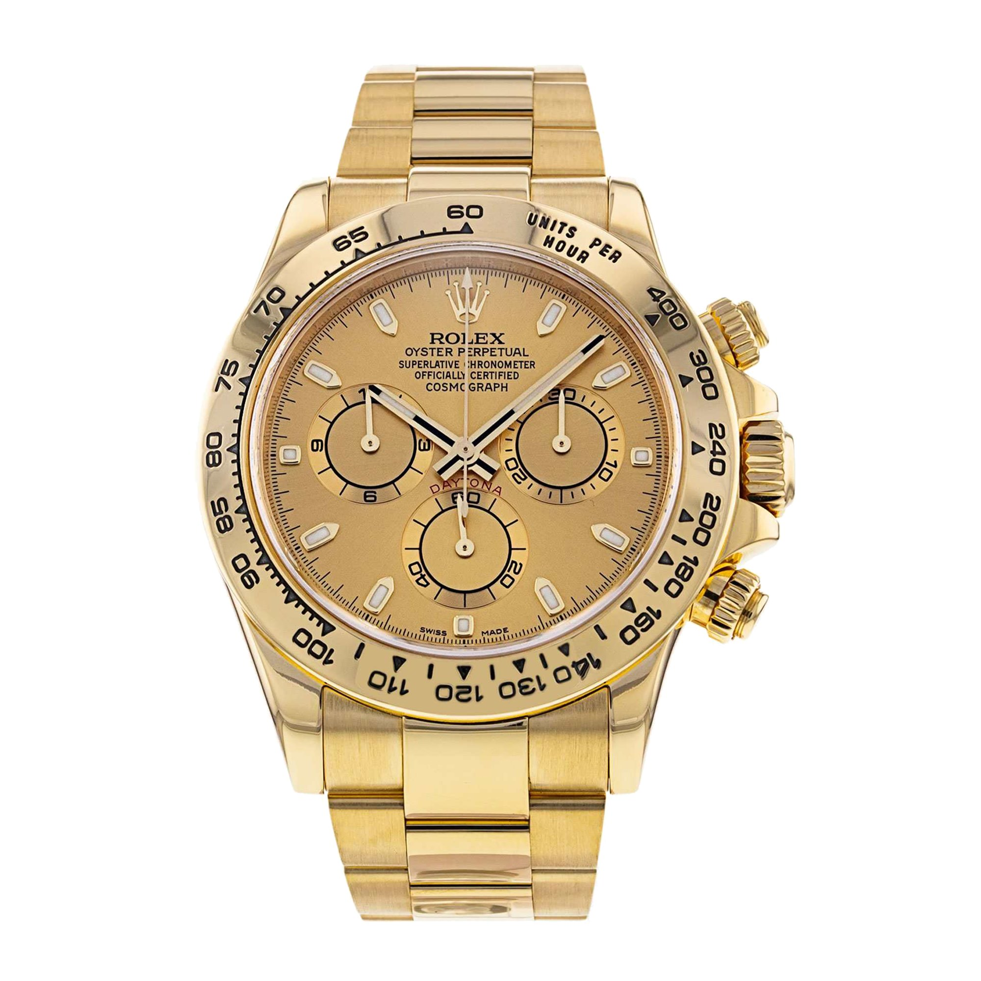 Rolex Daytona Chronograph Yellow Gold 116508