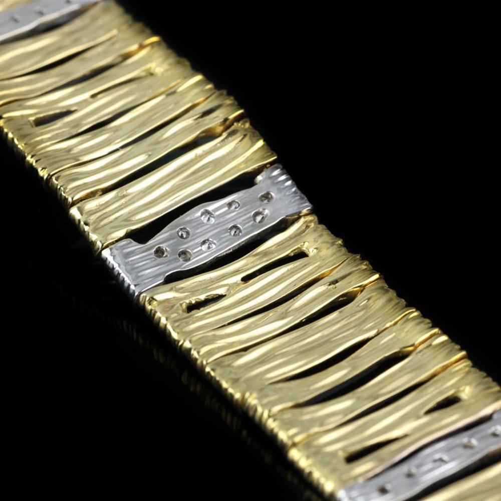 Roberto Coin Elephantino 18K Yellow & White Gold Diamond Bracelet