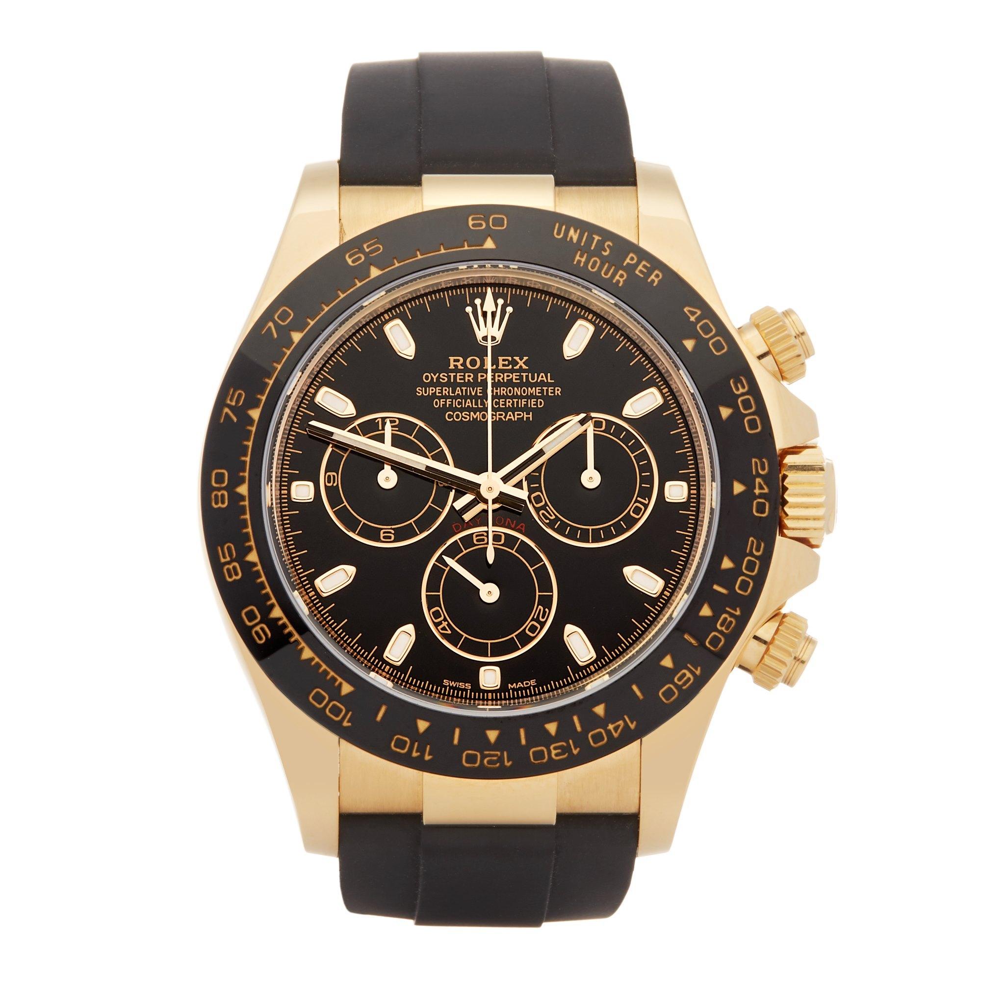 Rolex Daytona Chronograph Yellow Gold 116518LN