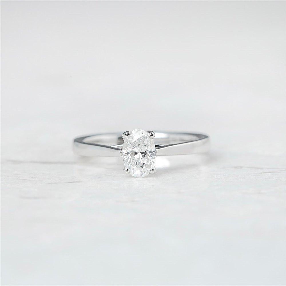 Mappin & Webb Platinum Oval Brilliant Cut 0.77ct Diamond Ring