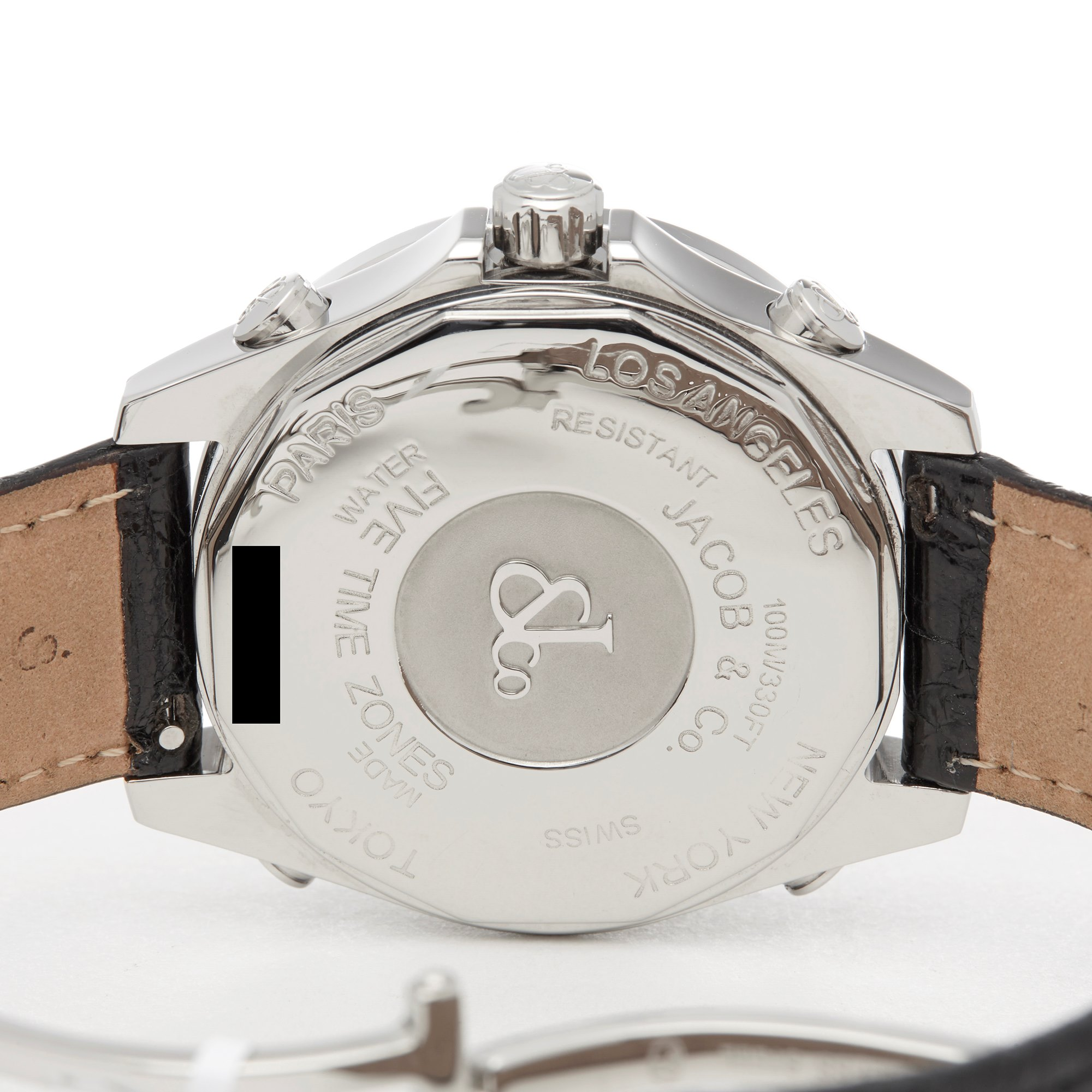 JACOB & Co. Five Time Zones Stainless Steel