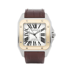 Cartier Santos 100 Xl Stainless Steel & Yellow Gold - W20072X7 or 2656