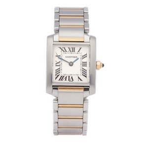 Cartier Tank Francaise Stainless Steel & Yellow Gold - 2384