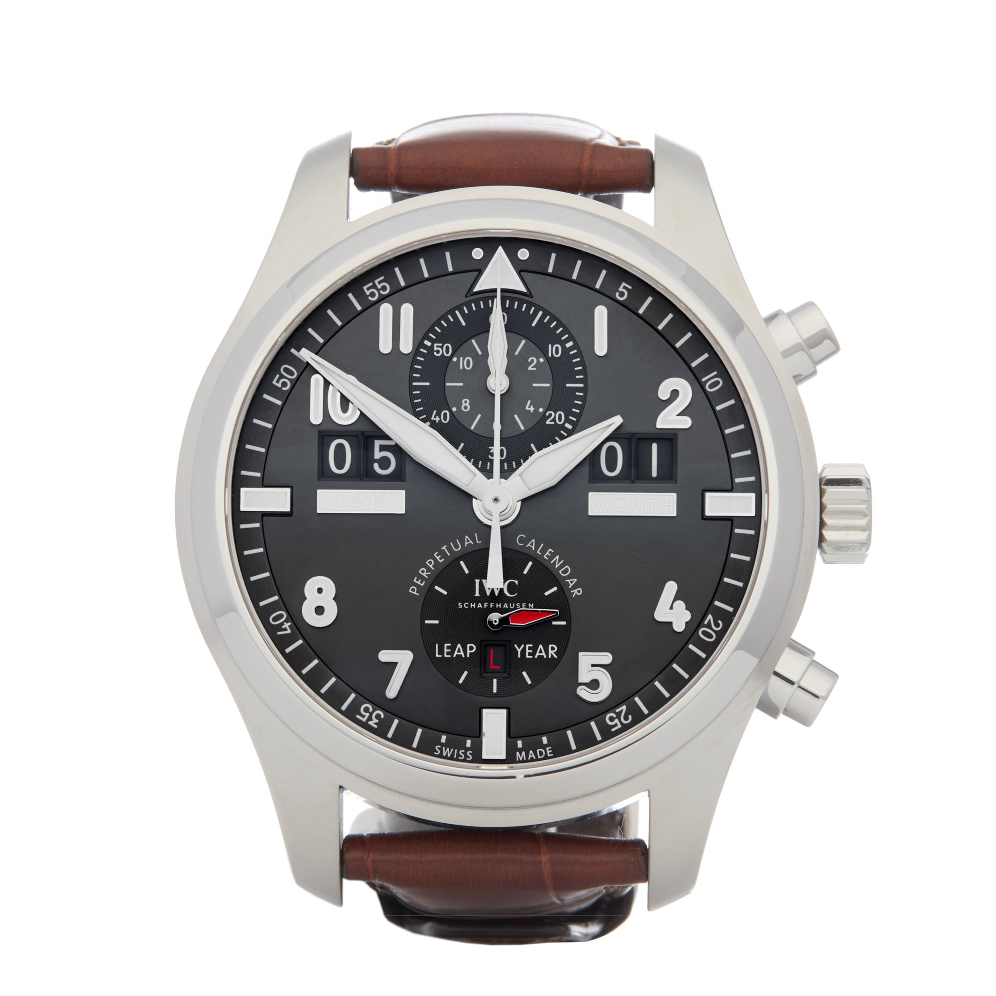 IWC Spitfire Perpetual Calendar Roestvrij Staal IW379107