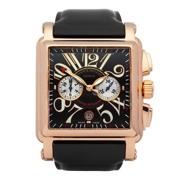Franck Muller Conquistador Cortez Chronograph 18K Rose Gold - 10000 H CC