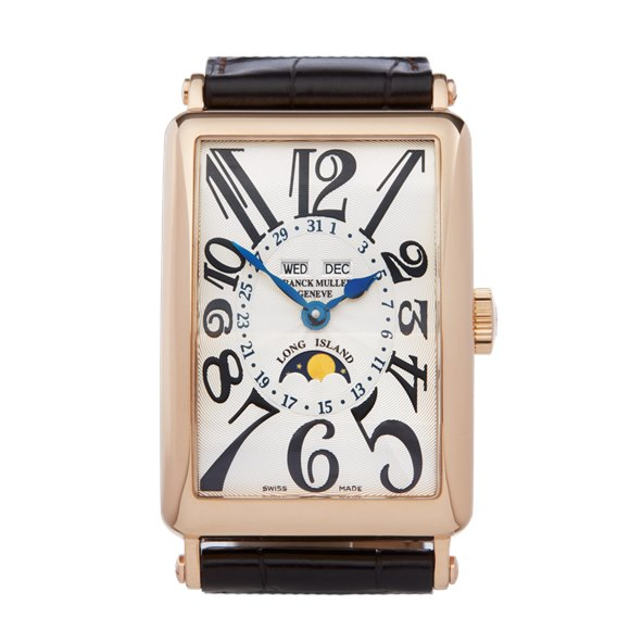Franck Muller Long Island Annual Calendar 18K Rose Gold - 1200 MC L