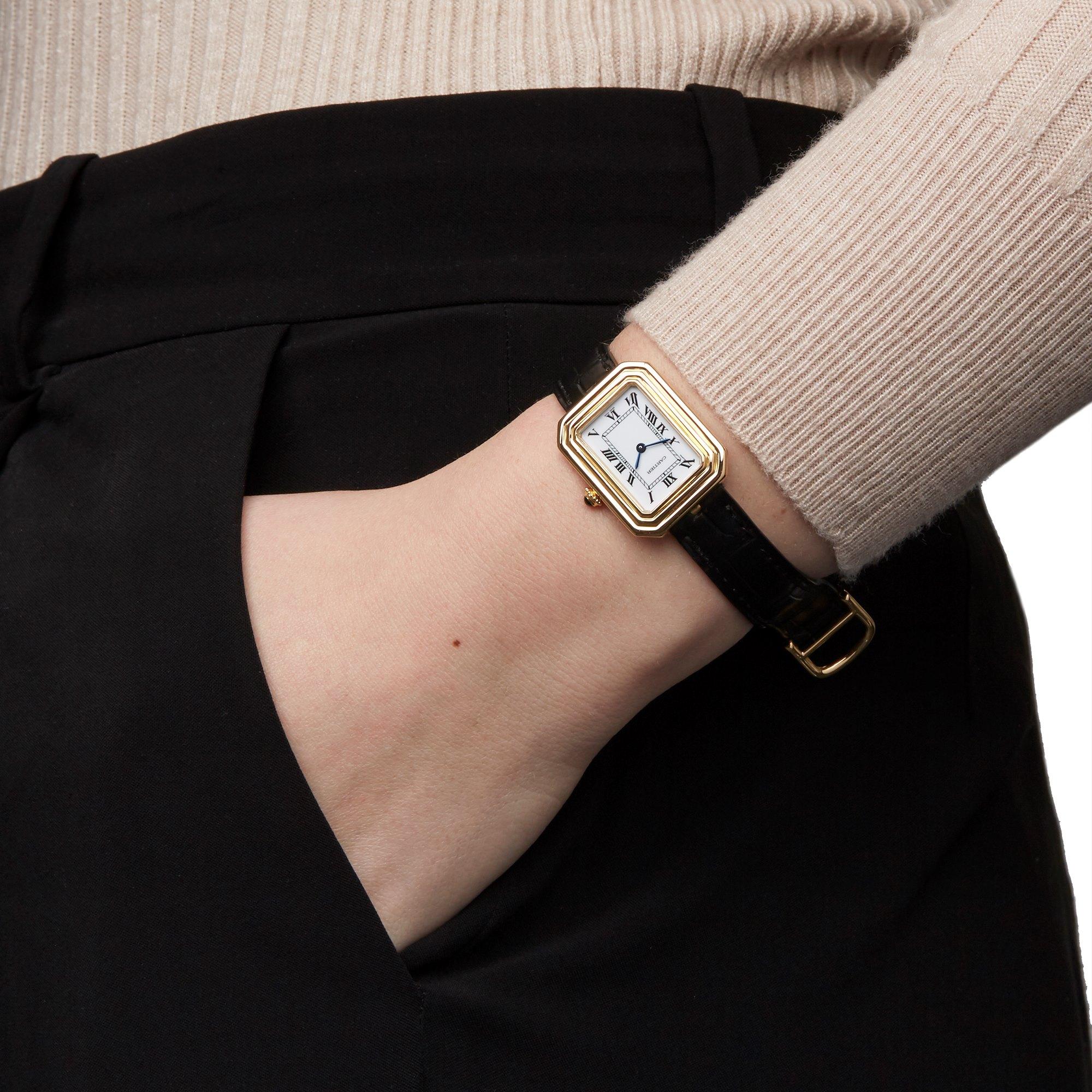 Cartier Cristallor Paris Mecanique 18K Yellow Gold 7809