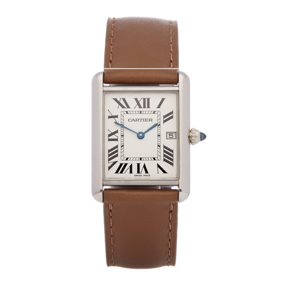 Cartier Tank Solo 18K White Gold - 2678 or W1540956