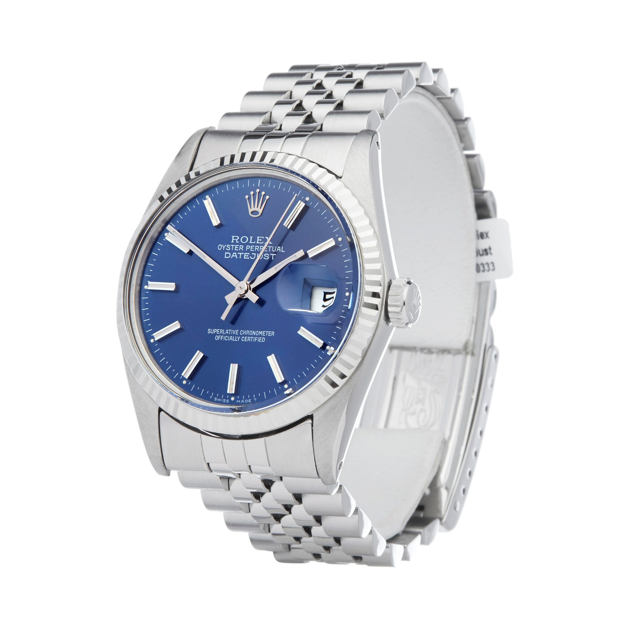 Rolex Datejust 36 Roestvrij Staal 16014