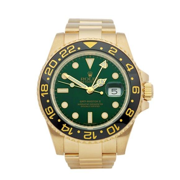 Rolex GMT-Master II 18K Yellow Gold - 116718LN