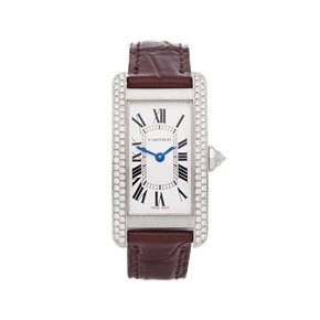 Cartier Tank Americaine Diamond 18K White Gold - 1713
